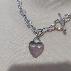 Nine West Tiffany-Style Heart Necklace